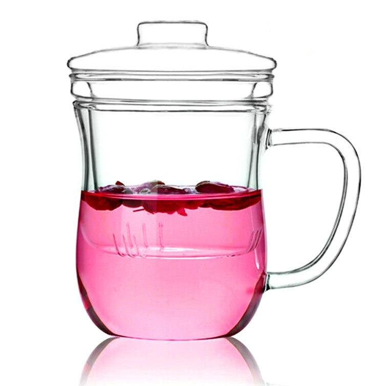 creativa taza de t de vidrio resistente al calor kung fu jarra de cerveza de
