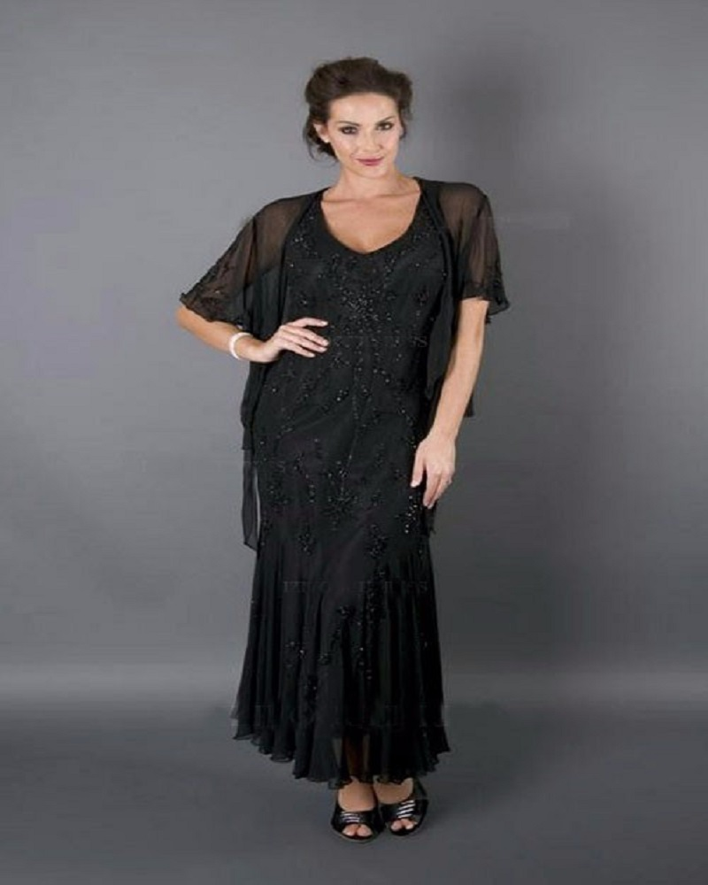 Mother Of The Groom Dress: New Shinning Black Mamma Della Sposa Ginocchio Mother