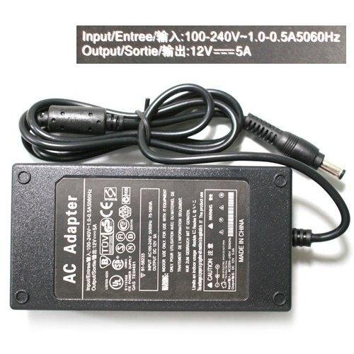 20pcs by ems N172 LCD 12V 5A Power Supply ac Adapter laptop netbook Connector 5.5x2.5 notebook power adapter