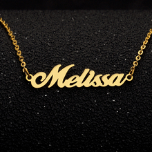 Personalized Name Necklace Custom English Fashion Jewelery Stainless Steel Pendant Gold  Necklaces