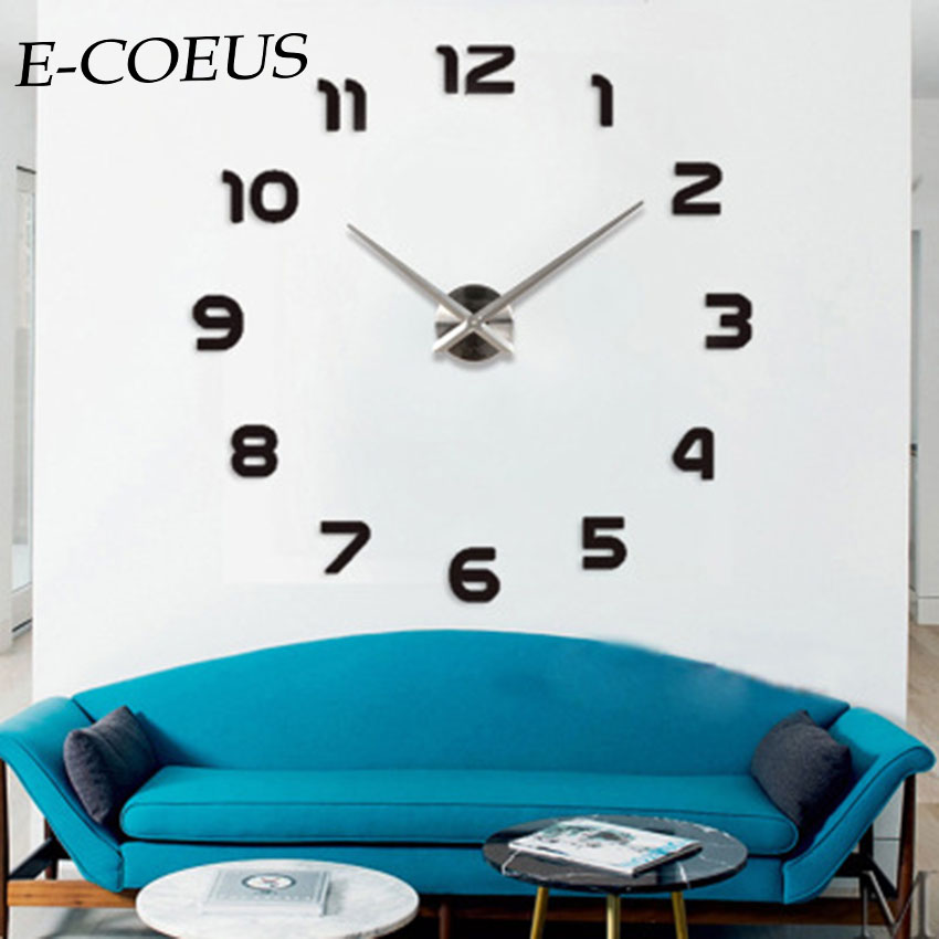 Sticker, WallClocks, Decor, Single, Mirror, Unique