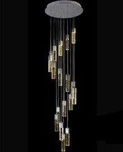 1,4-3,5 м для гостиничного Холла Светодиодная лампа современный лестница люстра пузырь с украшением в виде кристаллов светодиодное освещени G4 светодиодные полосы длинная лестница Хрустальный потолочный
