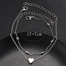 RscvonM Heart Female Anklets Barefoot Crochet Sandals Foot Jewelry Leg New Anklets On Foot Ankle Bracelets For Women Leg Chain