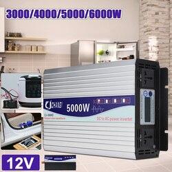 Интеллектуальный экран чистая синусоида Мощность инвертор DC12V DC24V к AC220V 3000 W-6000 W преобразователь с ЖК-дисплей Дисплей