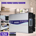 Intelligente Screen Reine Sinus Welle Power Inverter DC12V DC24V zu AC220V 3000 W-6000 W Konverter Mit LCD Display
