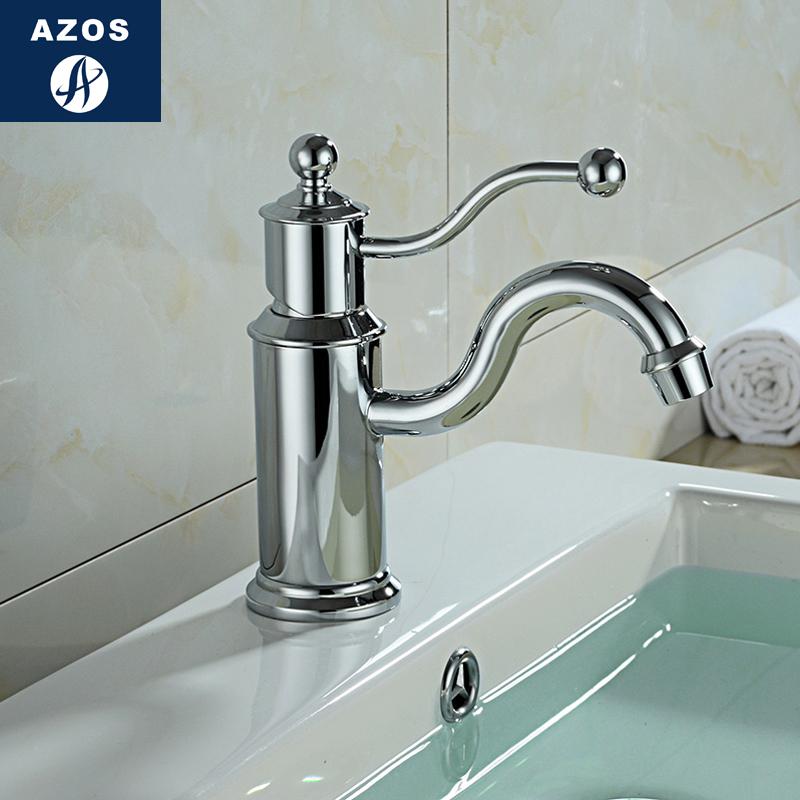 Azos Under Counter Basin Faucet Soft Wash Basin Brass Chrome Cold and Hot Switch  Northern Europe Shower Room Kitchen Round MPDKAzos Under Counter Basin Faucet Soft Wash Basin Brass Chrome Cold and Hot Switch  Northern Europe Shower Room Kitchen Round MPDK
