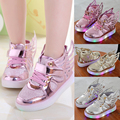 Chaussure Lumineuse Enfant Lovely Led Shoes Kids Light Up Girl Sneakers Cute Chaussure Fille Cool Child Trainer