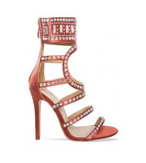 2018 Hot Selling Bling Bling Beaded Summer Sandals Unique Design Cage Sandal Boots Strappy Pumps For Wedding Glittering Stones