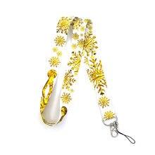 Брелок regooly re161 с золотой снежинкой и шеей ожерелье мультипликационным