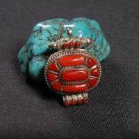 Непал ручной работы 925 серебряные ГАУ кулон с секретом буддистская молитва кулон с секретом Тибетский Ghau Амулет Удачи Кулон