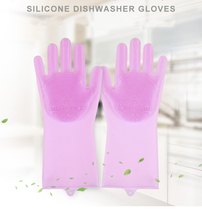 Kitchen Silicone Cleaning Gloves Magic Dish Washing For Household Scrubber Rubber Dishwashing