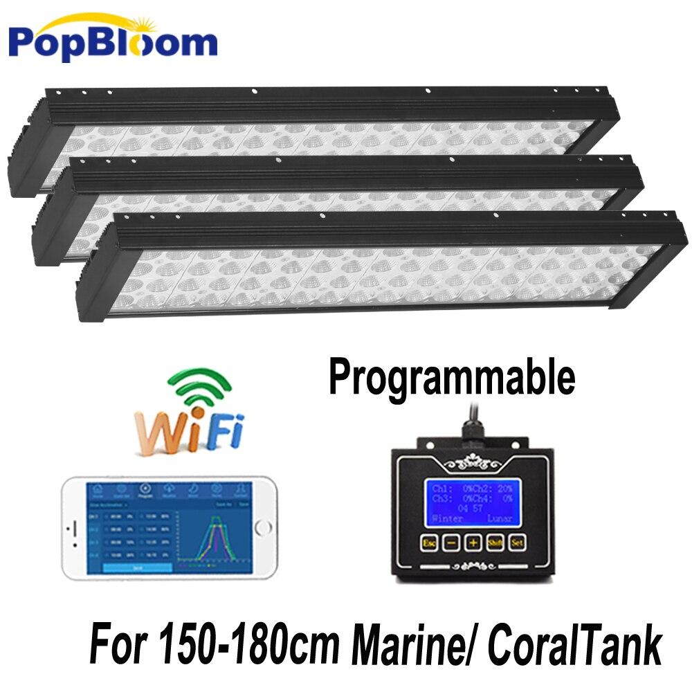 60 дюймов 150 см 5ft Wi Fi Программируемый морской светодио дный свет для коралловых SPS LPS аквариум с морской риф танк с Sunrise Sunset