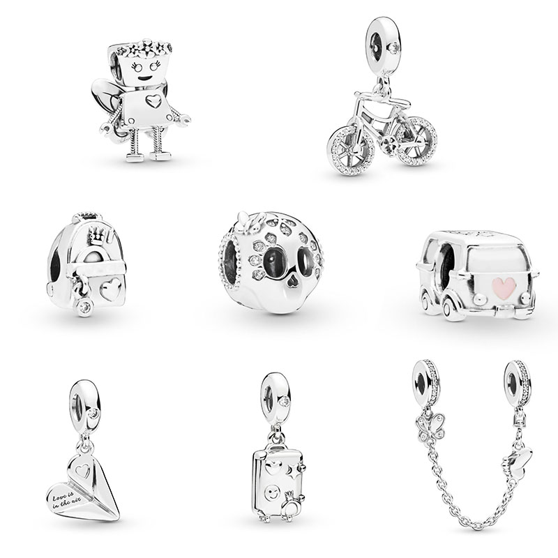 Copy Robot Pandora Bracelet Spring Silver Original High-Quality Latest 1:1 Logo-Fit New
