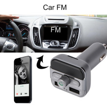 Coche MP3 Coche Reproductor de Audio Bluetooth Transmisor FM FM Modulador Kit Manos Libres Reproductor de Música Cargador Dual USB para el iphone iPod iPad