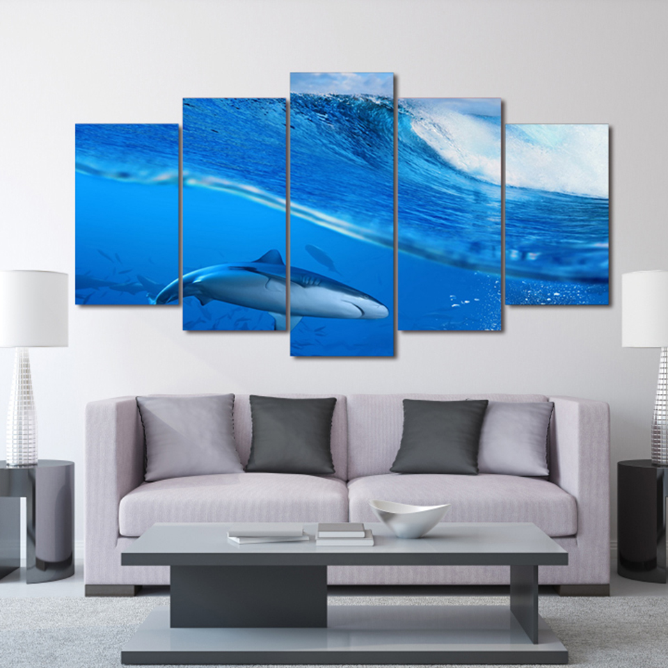 Shark Wall Art shark wall art promotion-shop for promotional shark wall art on