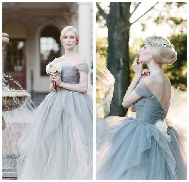 2015 atemberaubend Grau Brautkleider Sareh Nouri Vintage Weg ...