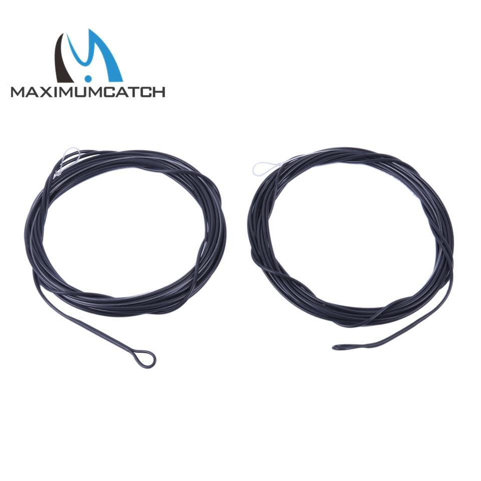 Maximumcatch 2pcs 5-10ft 10-25lb Black Color Fishing Poly Leader 6ips Sinking Leader Line