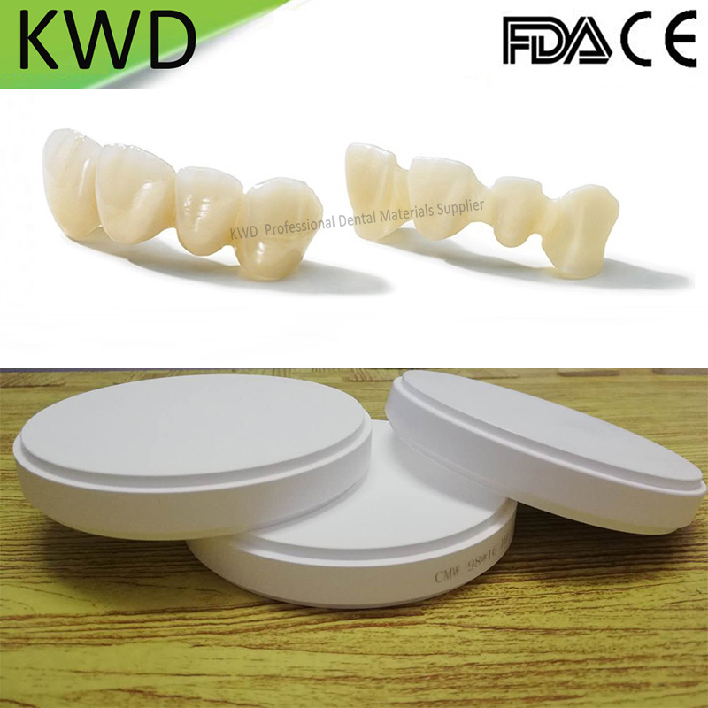 1 Piece Lab Cad Cam Dental Zirconia Disc Preshaded A2 Dental Zirconia Blocks HT ST Wieland