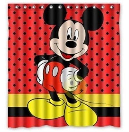 Custom 40 Mickey Mouse Pattern Bathroom Shower Curtain 40x40cm Fascinating Mickey Mouse Pattern