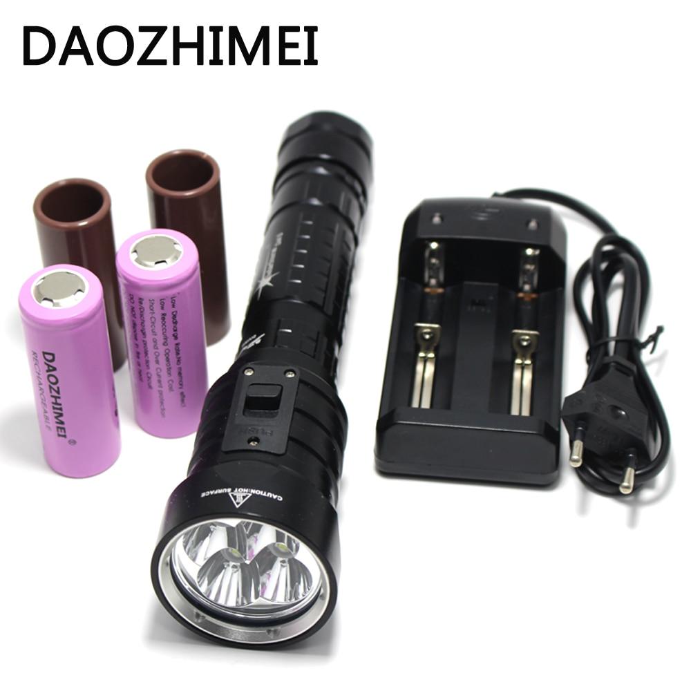 8000 Lumens DX4S upgraded from DX4 XM-L2 U2 LED diving flashlight brightness