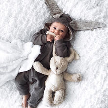3D Ear Baby Cute Rabbit Custome New Long Sleeve Toddler Infant Baby Girl Boy Romper Jumpsuit Cosplay Outfits Clothes