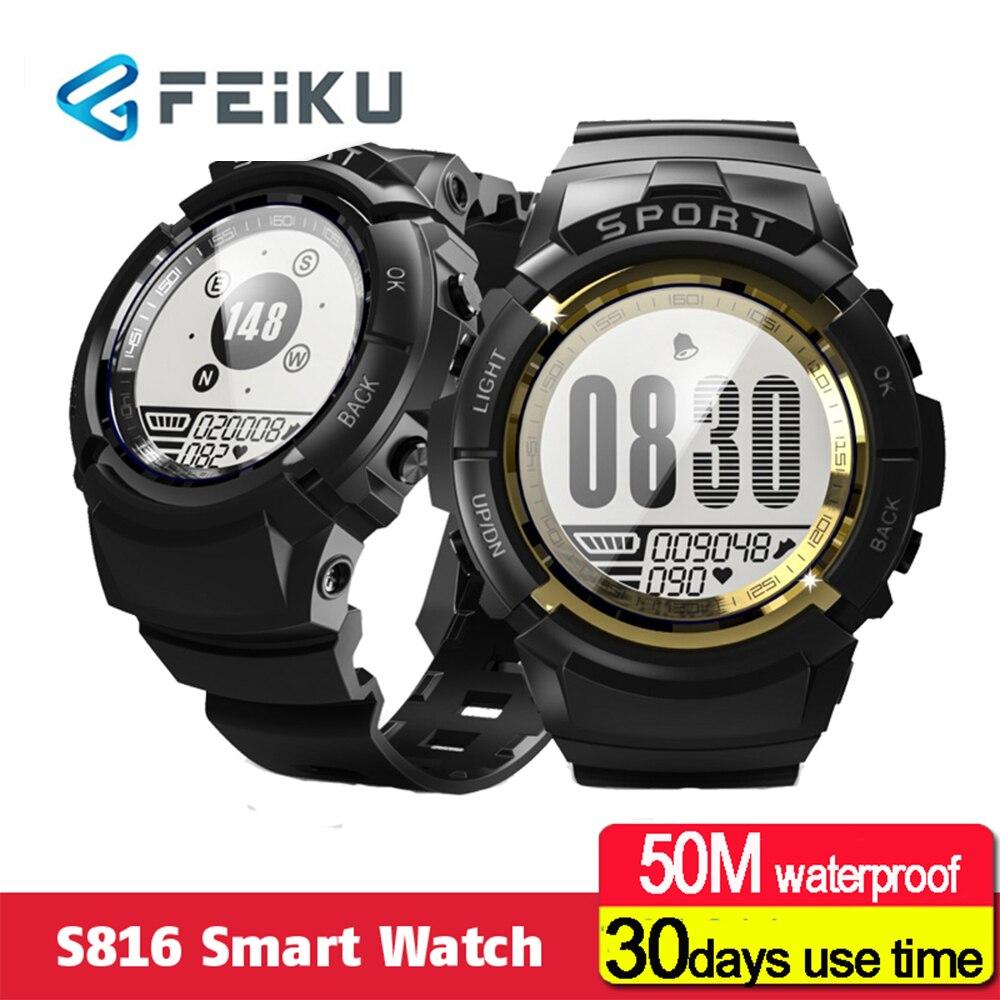 HapGo hommes Sport montre intelligente IP68 étanche Fitness Tracker dynamique fréquence cardiaque boussole chronomètre réveil Smartwatch