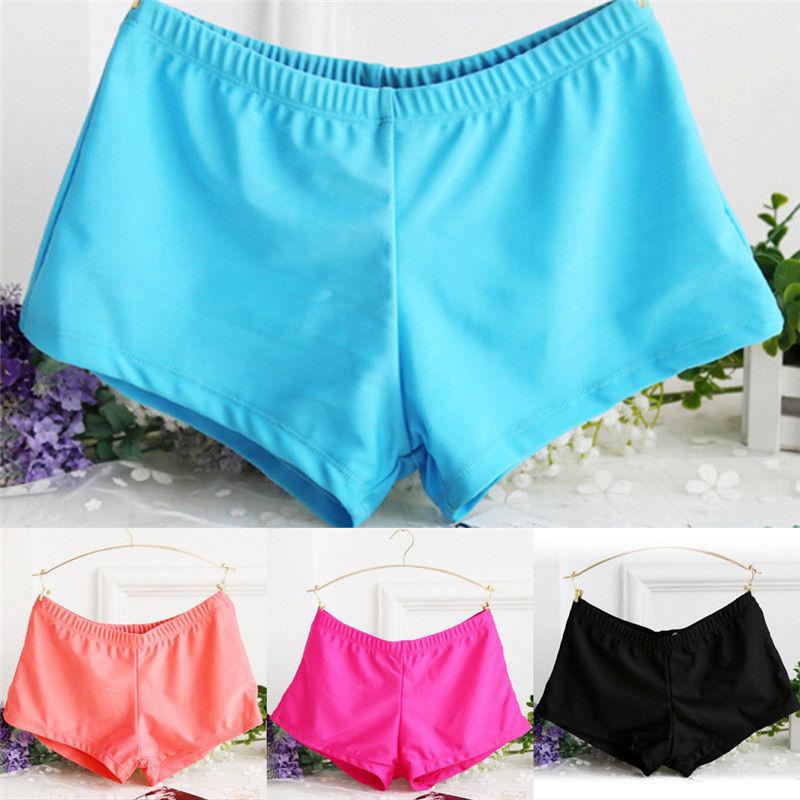 Femme Sports et Loisirs Freebily Femme Yoga Shorts de Bain Gym Taille Haute Bas de Maillot Tankini Pantalon Shorts dEté Sport Hot Pants S-L