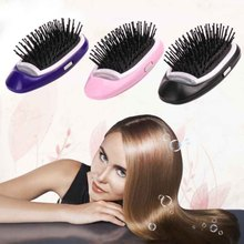 Handle Detangling Electric Ionic Hairbrush women mini massage Hair Comb Home Travel Using Salon Styling Tamer Tool