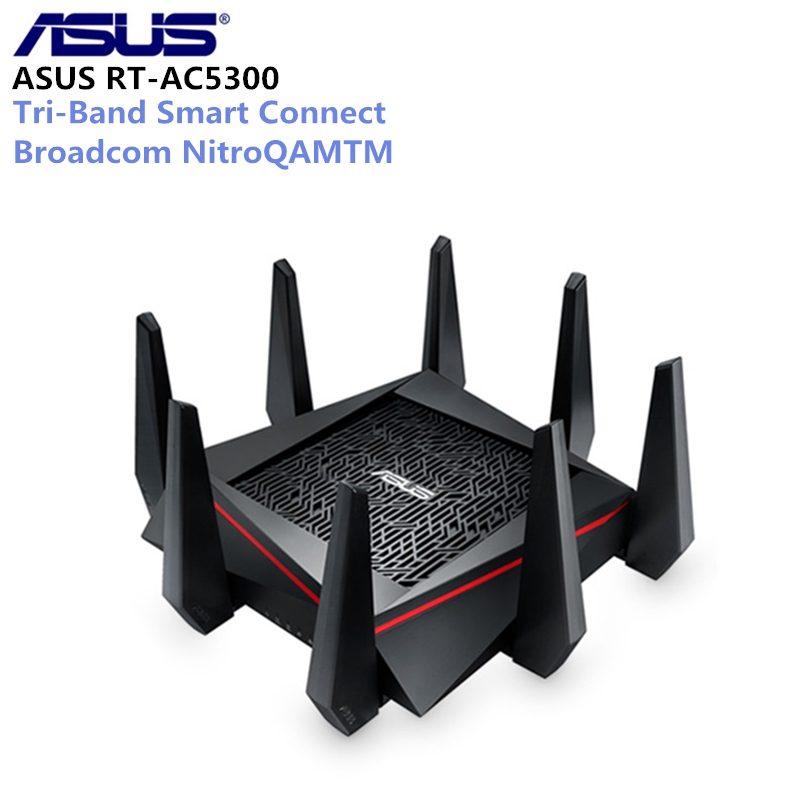 ASUS RT-AC5300 5334Mbps Wireless Router AC5300 Network Device 2.4GHz/5GHz Tri-Band MU-MIMO Gigabit Wifi Repeater Router цена и фото