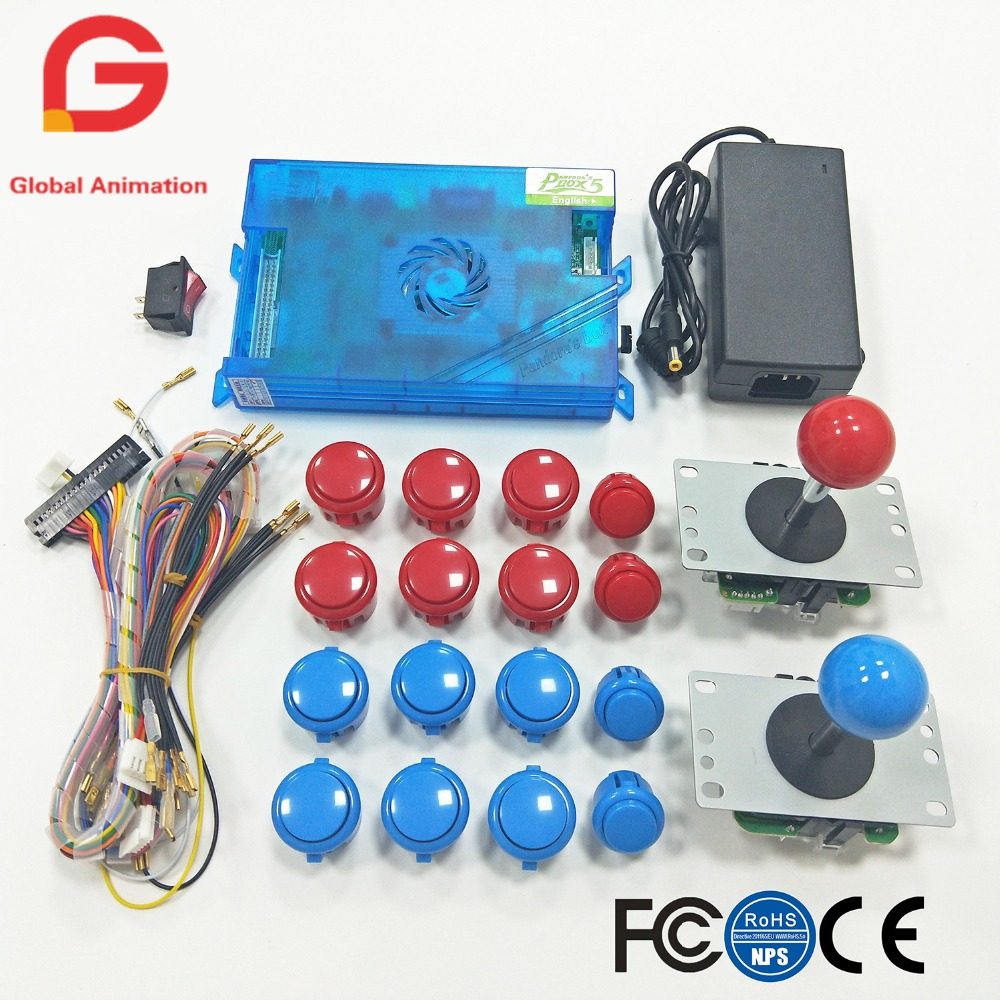 2 Players Arcade DIY kit Original Pandora Box 5S 960 in 1 Game board 5Pin joystick and push button for Fighting game machine цена