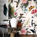 Затемненные занавески s для гостиной  спальни  роскошные бархатные занавески  птички  цветы  напечатанные жалюзи  креативные занавески  экол...