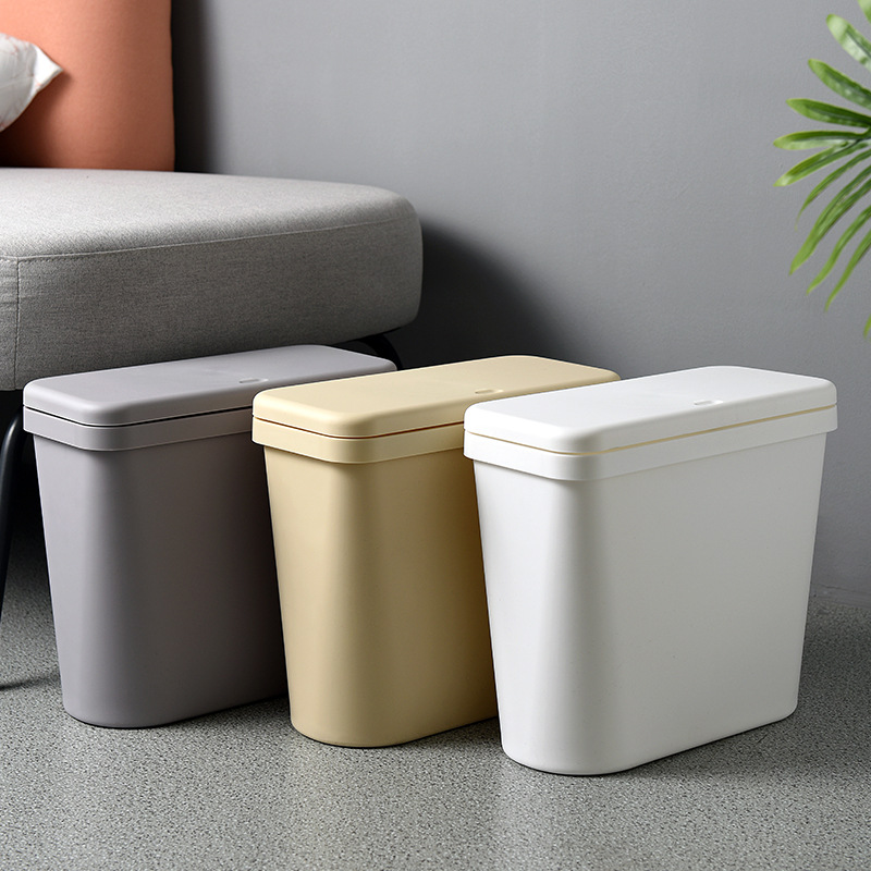 Free Shipping Living Room Kitchen Trash Can Pressing Type Plastic Office Paper Basket Home Creative Waste Bins|Waste Bins| |  - title=