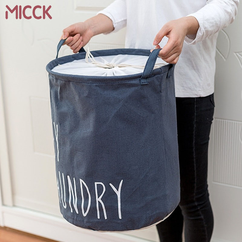 MICCK Home collapsible laundry basket child toy storage laundry bag for dirty clothes hamper organizer Large Laundry bucket