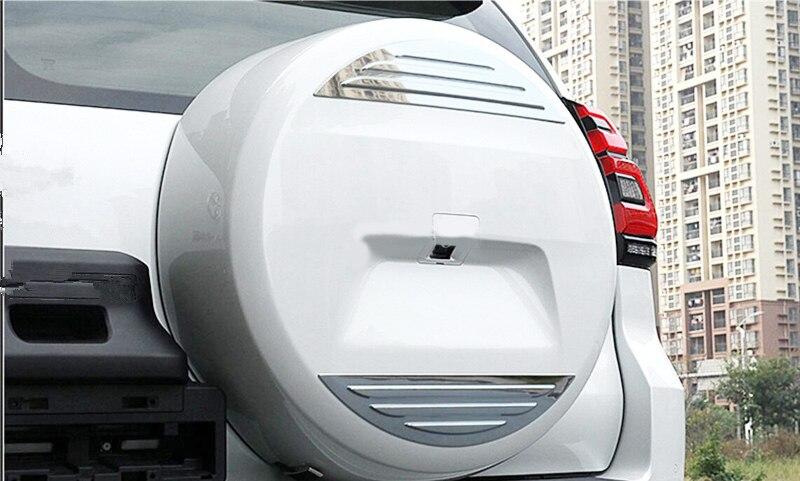 2Pcs/Set ABS Chrome Car Rear Spare Wheel Decorative Trim Car Styling Accessories Fit For Toyota Prado FJ150 2018