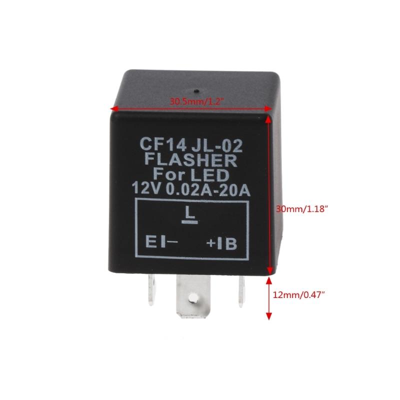 3-контактный регулируемые CF14 JL-02 светодио дный Flasher реле Fix поворотов Hyper флэш-вопрос