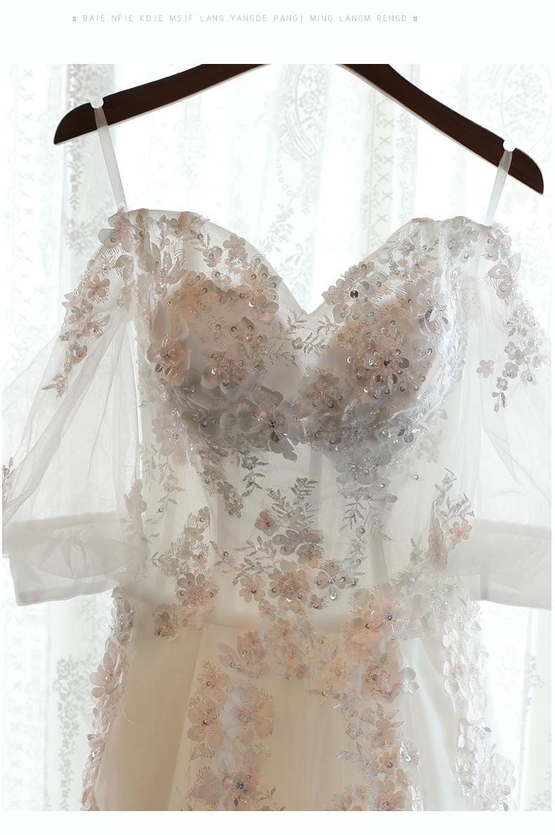 Boho Vintage Lace A-line Wedding Dress