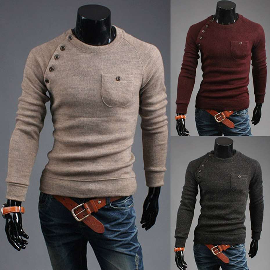 Zogaa Winter Men Sweater Guys Wool Knitted O-Neck Pullover Sweater Male Casual Long Sleeve Solid Slim Fit Pull Sweaters 2019 Hot