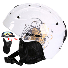 MOON Men Women Ski Helmet Winter Skiing Snow Snowboard Skateboard Helmet PC+EPS 52-64CM CE Certification