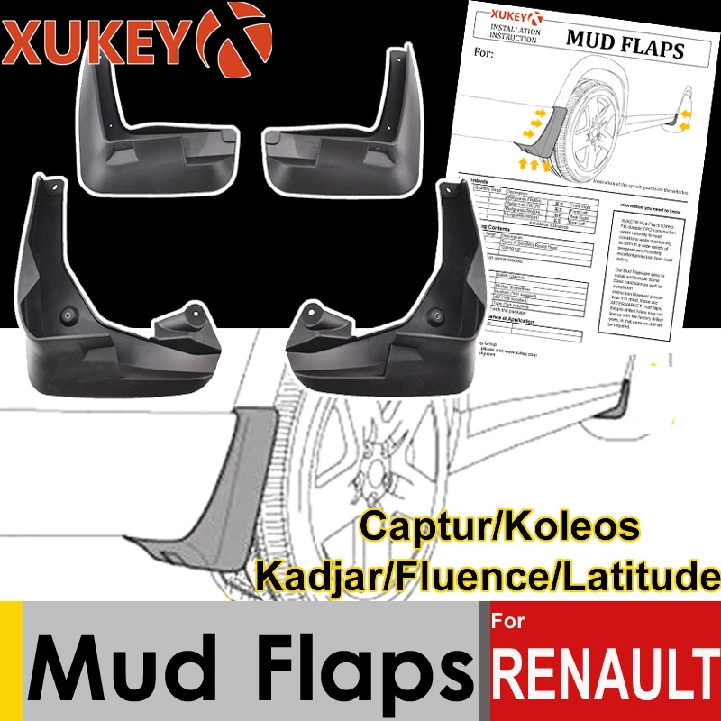 Set Car Mud Flaps For <font><b>Renault</b></font> Captur <font><b>Koleos</b></font> 1 2 Kadjar Fluence Latitude Mudflaps Splash Guards Mud Flap Mudguards Fender Styling image