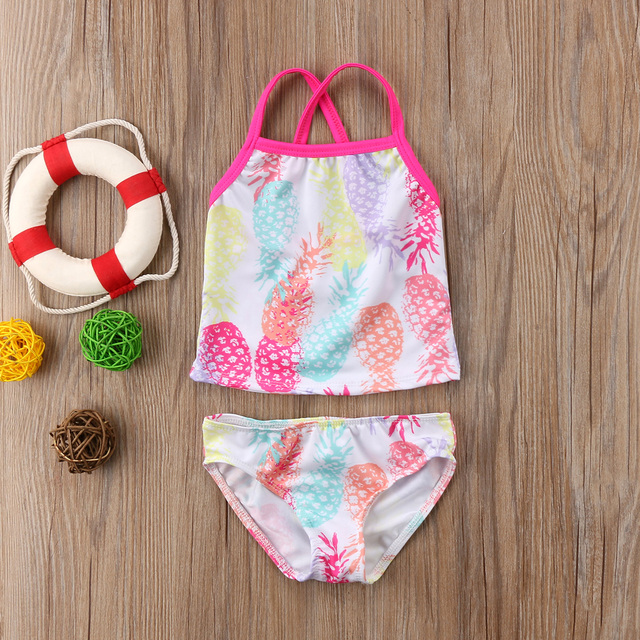 94b8a4a9f02 US $5.29  Pudcoco HOT SALE New Baby Girls Kids Small Pineapple Sleeveless  Fashion Swimwear Summer Clothes Sets 6M 5Y-in Clothing Sets from Mother &  ...