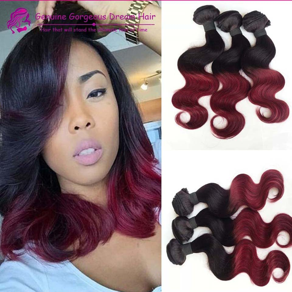 Grade 7a New 2 Tone Colors 1bbug Human Hair Weaving Body Wave