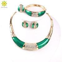 Africa Nigeria Wedding Beads Jewelry 18K Gold Plated Jewelry Dubai Romantic Style Costume Jewelry Set