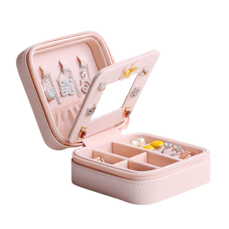 High Quality PU Leather Box Ladies European Cosmetic Box Jewel Case Organizer Birthday Gift Wedding Gift