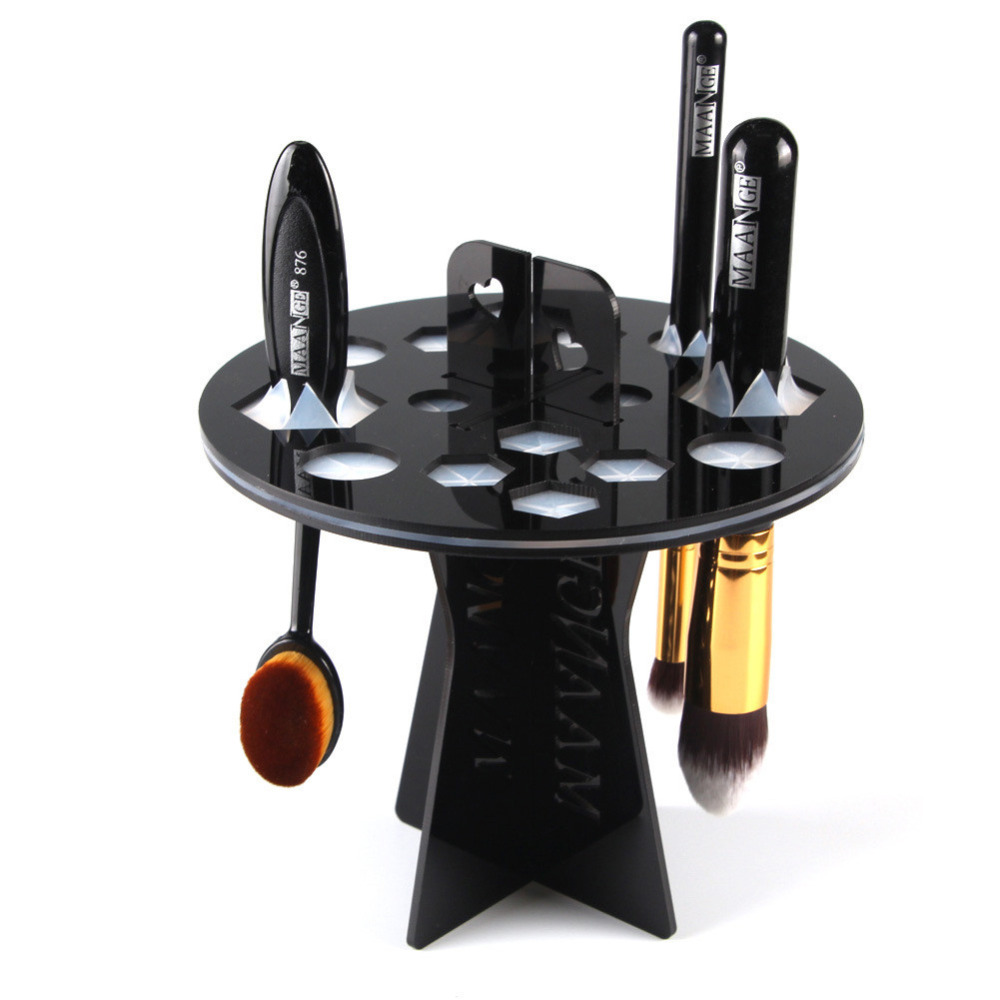 mint acrylic makeup brush holder cosmetic puff eye shadow pen make up tree brushes organizer. Black Bedroom Furniture Sets. Home Design Ideas