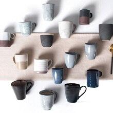 Taza de café de cerámica de estilo europeo taza de café A Mano artesanal copa Retro taza de cerámica Al Por Mayor taza Taza resistente al Calor