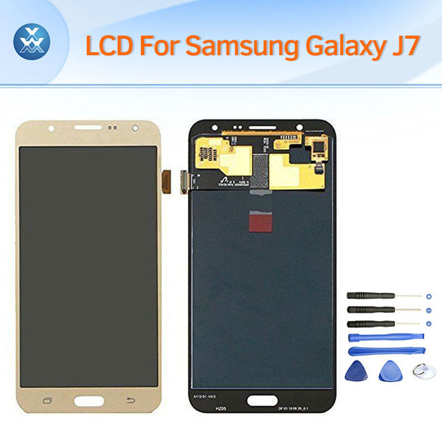 LCD replacement for Samsung Galaxy J7 2015 J700 J700F J7000 LCD display touch screen digitizer glass complete assembly pantalla