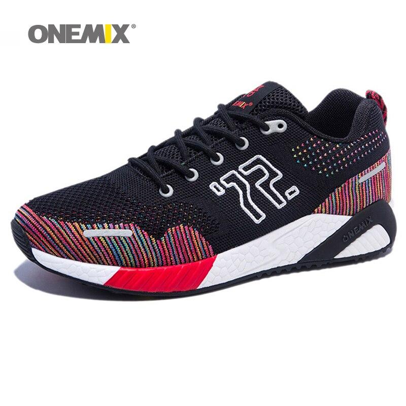 62cf8f85d50c ONEMIX Comfortable 2017 Men Running Shoes Women Wide Sneaker Winter Outdoor  Sport Walking Lightweight Slip Resistant Trainers