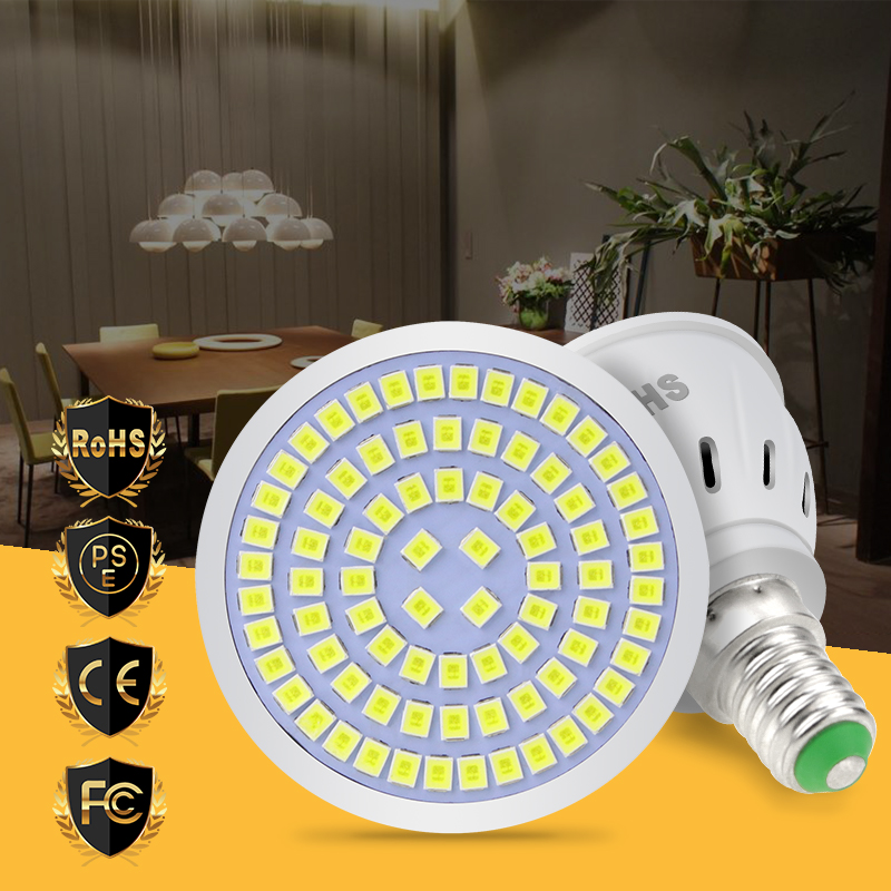 Bulb Led GU10 220V Led Lamps E27 Spotlight MR16 Led Light Bulb GU5.3 E14 48 60 80leds Home Living Room Decoration Lighting B22