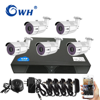 CWH 5CH HD 720P 1MP AHD Camera Kits Security Camera with DVR of Home Camera System Support Smart Phone Remote Monitor