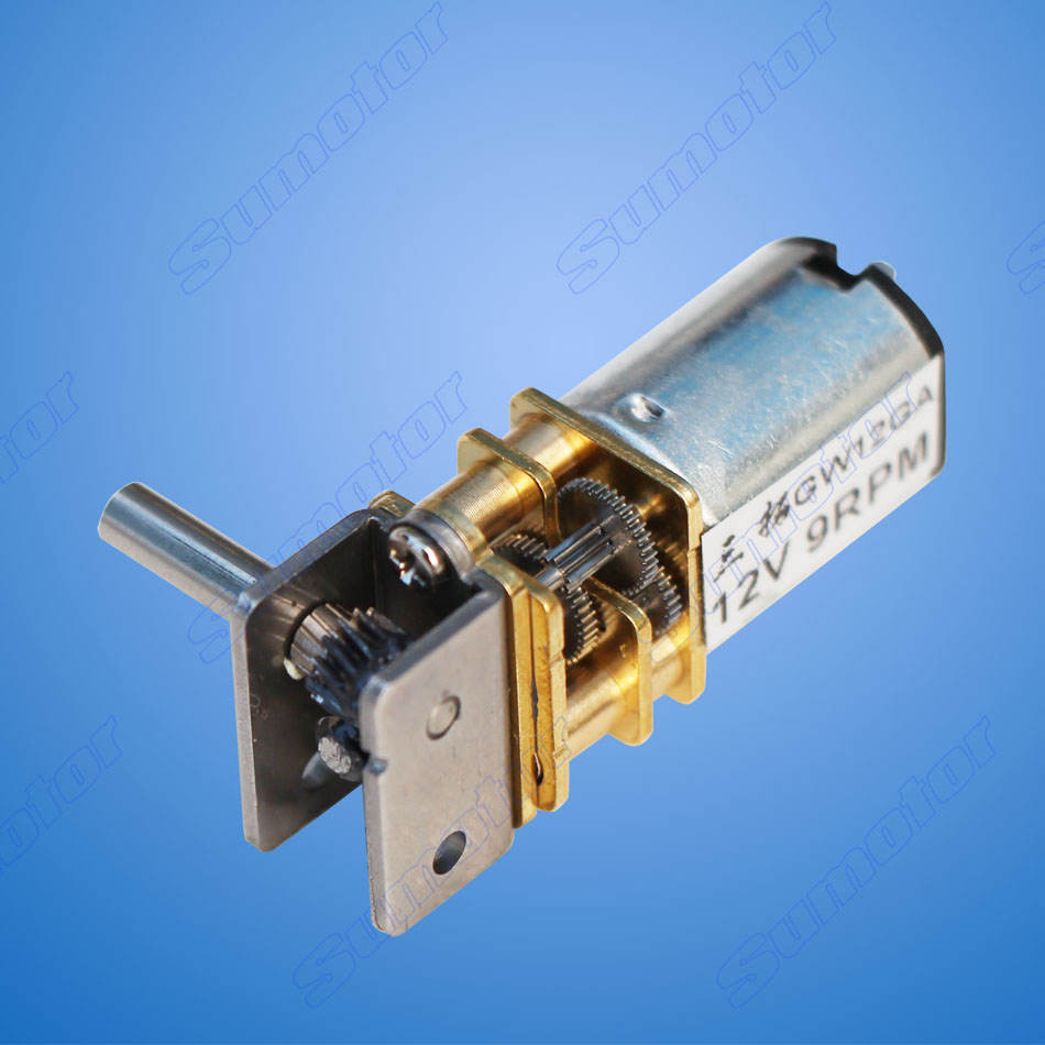 GW12GA DC 6V 12V smallest Worm gear motor Low speed Ultra mini gear box Reversible Electric engine for Smart car Robot Lock